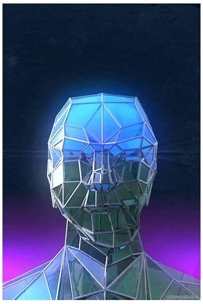 Kidmograph Sci Fi Gifs C4d Vaporwave Reflection