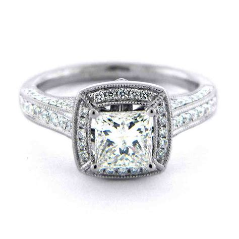 square engagement rings for modern and traditional brides wedding and bridal inspiration