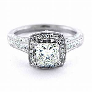 square engagement rings perfect for modern and traditional With wedding band for square engagement ring