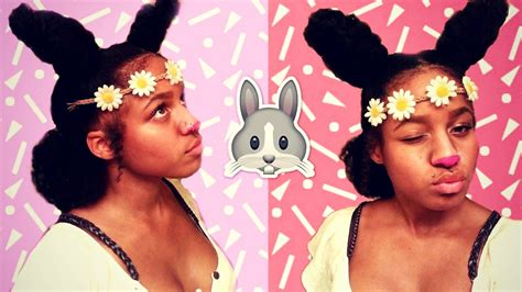 bunny ears hairstyle natural hair zen indian youtube