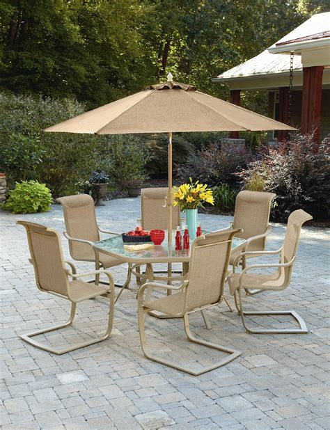 Kmart Smith Cora Patio Furniture by Smith Cora Dining Table With Lazy Susan Outdoor