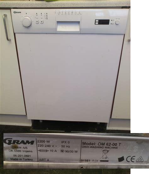 Gram opvaskemaskine sælges pga flytning