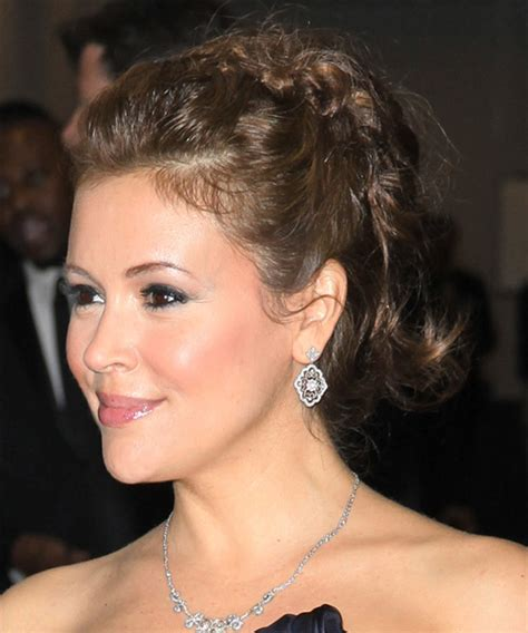 alyssa milano formal long curly updo hairstyle light