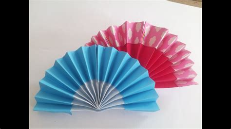how to make a hand fan how to make hand fan with paper origami hand fan paper