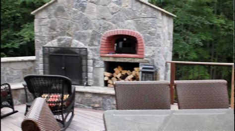 image of fireplace surround ideas outdoor kitchen and fireplace with pizza oven built
