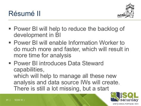 Power Bi Resumes by Power Bi The Self Service Bi Lifecycle In The Cloud