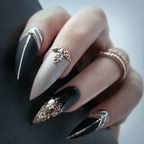 cool stiletto nails designs     tips