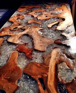 resin table snow burly effect dof color - teriswood