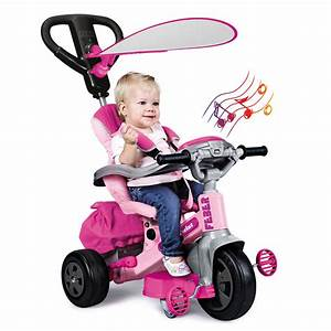 FEBER Tricycle Evolutif Baby Twist 360° Rose 10 Pouces Achat / Vente tricycle Cdiscount
