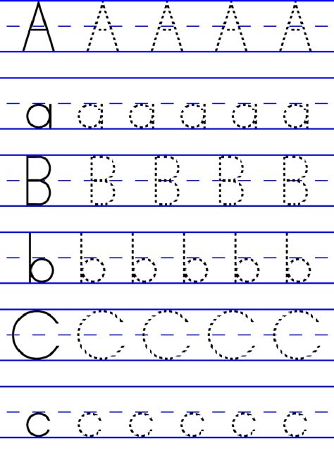 free abc worksheets for pre k lowercase uppercase