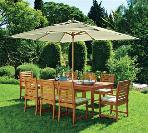 buy collection 8 seater wooden patio set green