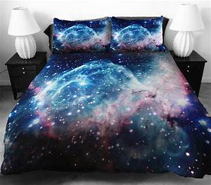 Galaxy bedding duvet and pillow cases for Bed sheets and pillow cases