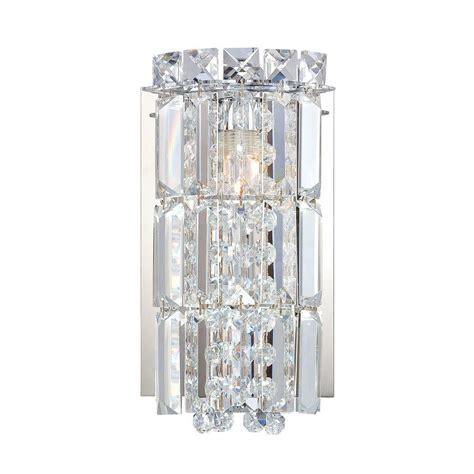 chrome crystal 3 light wall sconce bathroom vanity fixture