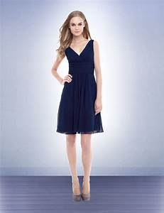 elegant navy blue chiffon bridesmaid dresses cherry marry With navy blue dress for wedding