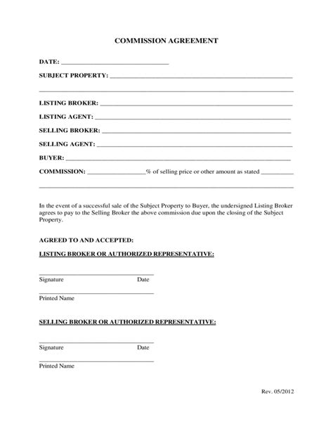 Commission Agreement Template Australia by Agent Agreement Template Free Sarahepps