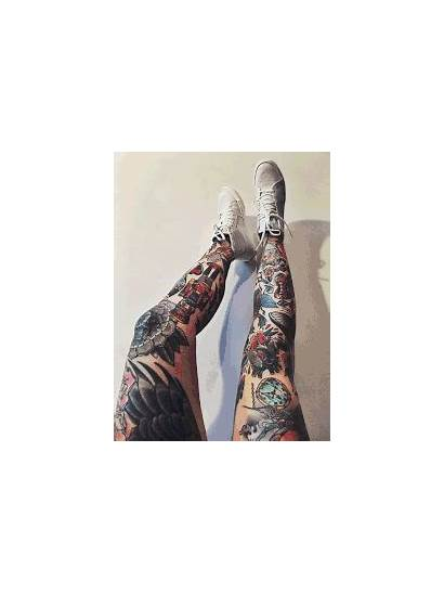 Legs Gifs Modification Tattoo Gifer Ink