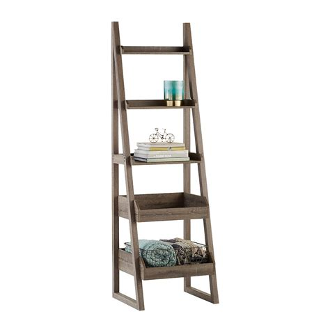 Narrow Bookshelf With Drawers by Rustic Driftwood Encore Narrow Bookshelf The Container Store