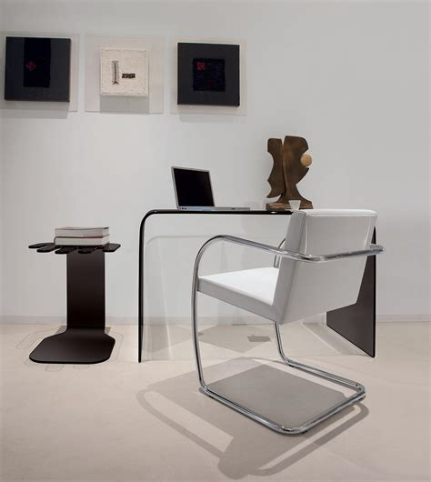 accademia curved glass desk shop italy design