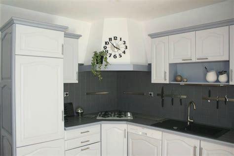 cuisine peinte en gris déco cuisine repeinte