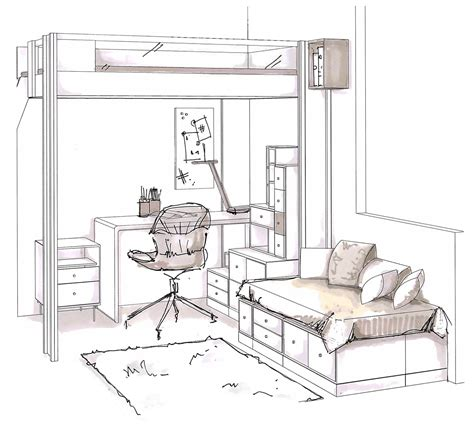 dessin en perspective d une chambre dessin d une chambre en perspective estein design