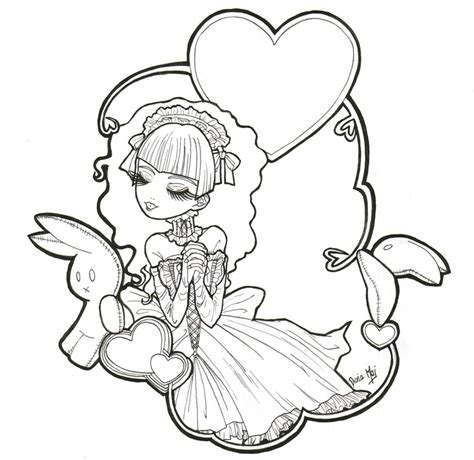 goth coloring pages Gothic Anime Coloring Pages Gothic