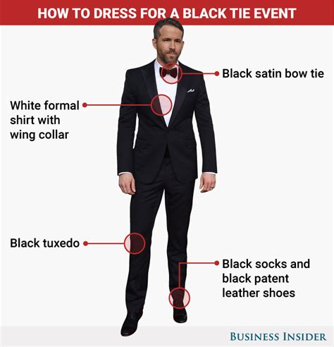 what to wear to a black tie event business insider