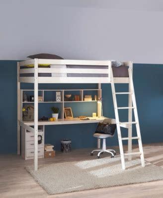lit mezzanine 2 places avec canapé lit mezzanine 140x190 cm blanc lits superposés et