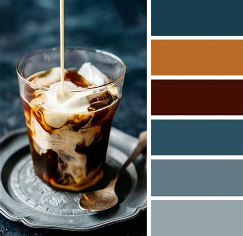Share why (or why not!) in the comments! Dark blue and caramel color palette , caramel color inspiration ,coffee inspired color palette ...