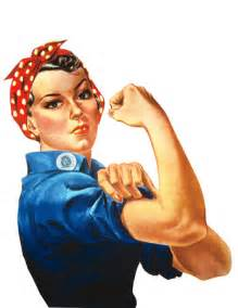 Free Photo: Rosie The Riveter Flexing Her Arm Muscles, We