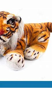 Tiger Doll Isolated On White Background. Bengal Tiger Doll ...