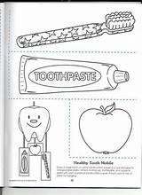 Dental Coloring Health Sheet Hygiene Sheets Oral Preschool Healthy Teeth Daycare sketch template