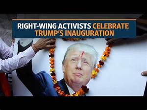 Indian supporters celebrate ahead of Donald Trump's ...