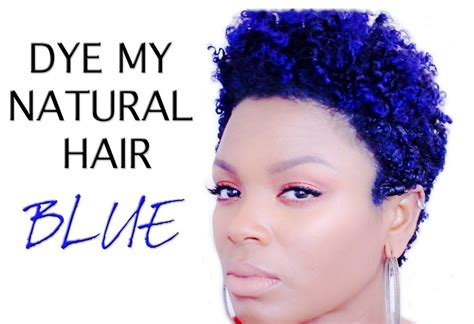Natural Hair How I Dye Blue Hair Video Styling
