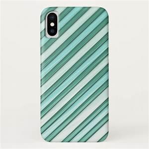 Cool Blue Stripes iPhone X Case