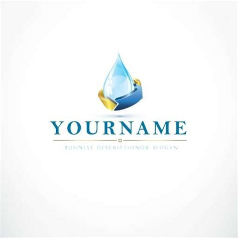 exclusive company logos water drop logo  business