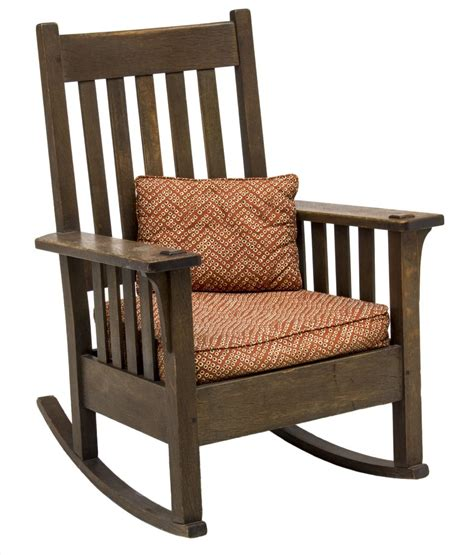 Stickley Oak Rocking Chair by American Arts Crafts Oak Stickley Rocking Chair