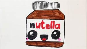 KAWAII NUTELLA DIY zeichnen süße Schoko Creme malen für