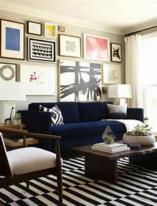 Blue Sofa 50 Interior Design Ideas With Sofa In Blue