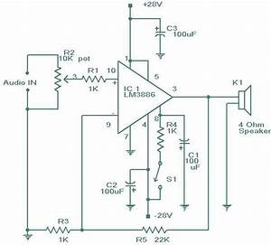 Do It By Self With Wiring Diagram  Lm 3886 Amplifier
