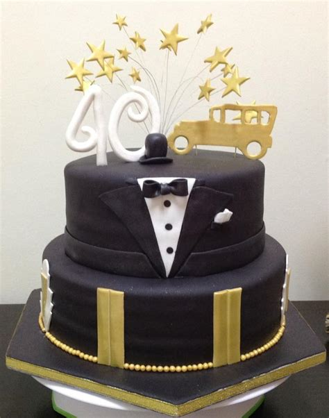 great gatsby inspired  birthday cake cake