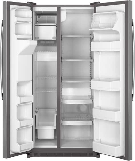 ge gsseshss   side  side refrigerator   cu ft capacity  adjustable glass