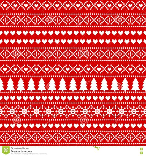 seamless christmas background card scandinavian sweater