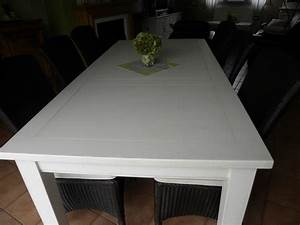 table a manger blanche solutions pour la decoration With salle a manger blanche