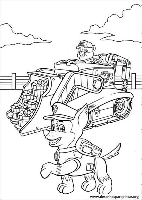 patrulha canina desenhos  colorir imprimir  pintar  mundo nick desenhos  pintar