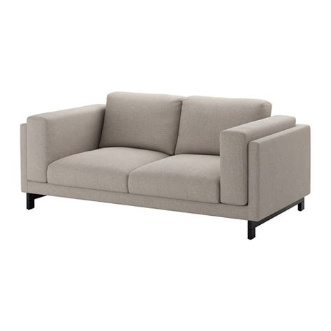 canapé ikea lillberg nockeby loveseat tenö light gray wood ikea