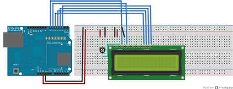 fritzing project display lcd con arduino