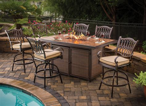 fire pit bar table balmoral bar height table with fire pit fire pits