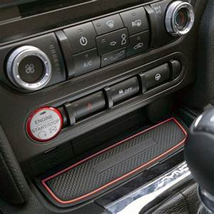 Custom Fit Cup Holder and Door Compartment Liner Accessories for Ford Mustang 2015 2016 2017 ...