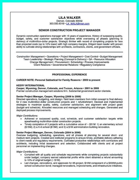 Construction Project Manager Resume by Cool Construction Project Manager Resume To Get