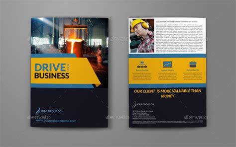 industrial company brochure bi fold template vol